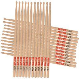 Brick of Vic Firth Nova wood tip drumsticks