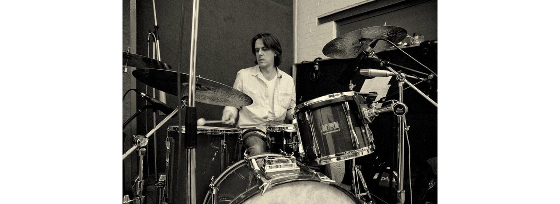 Roy Martin in the studio